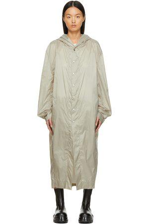 Rick Owens Women Rainwear - Beige Nylon Jumbo Tatlin Rain Coat
