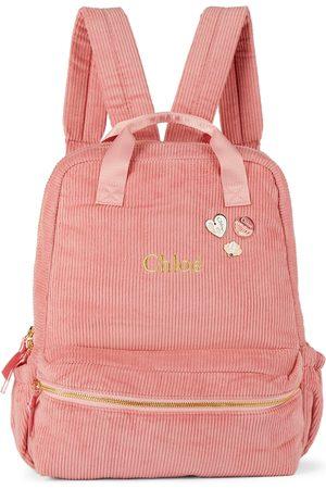Chloé Rucksacks - Kids Pink Corduroy Backpack
