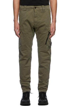 C.P. Company Men Cargo Pants - Khaki Sateen Cargo Pants