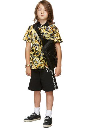 VERSACE Kids Black & Gold Baroccoflage Polo
