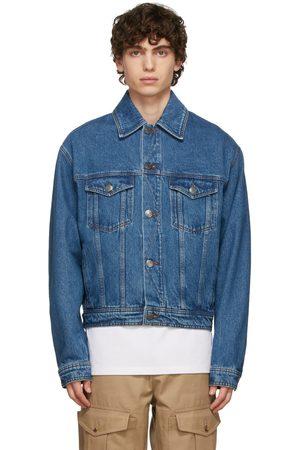 AMI Alexandre Mattiussi Men Denim Jackets - Blue Denim Box Jacket