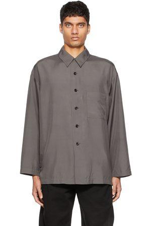 LEMAIRE Grey Silk Pyjama Shirt