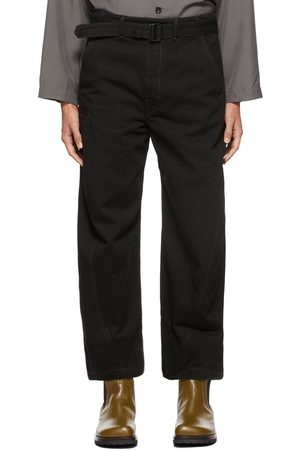 LEMAIRE Men Jeans - Black Twisted Jeans