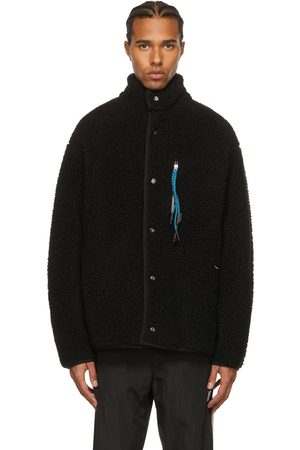 Palm Angels Men Fleece Jackets - Black Piled Explorer Jacket