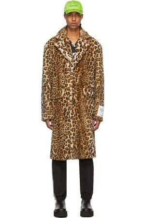 Palm Angels Men Jackets - Leopard Faux-Fur Coat