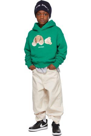 Palm Angels Hoodies - Kids Green Bear Hoodie