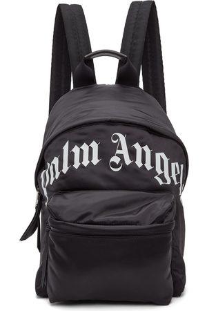 Palm Angels Black Curved Logo Backpack