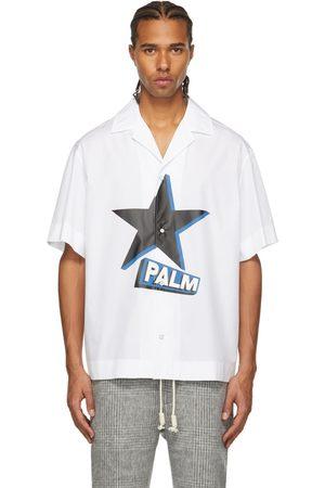 Palm Angels White Rockstar Bowling Short Sleeve Shirt