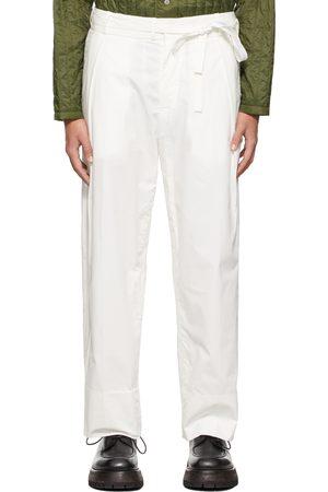 CRAIG GREEN Men Wide Leg Pants - Cotton Wide-Leg Trousers