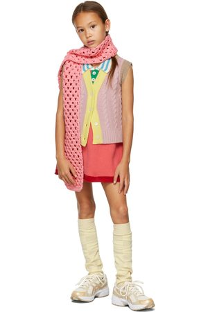 Ligne Noire Tank Tops - Kids Pink Wool & Cashmere Vest