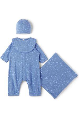 Petit Bateau Baby Blue Organic Cotton Little Stars Gift Set