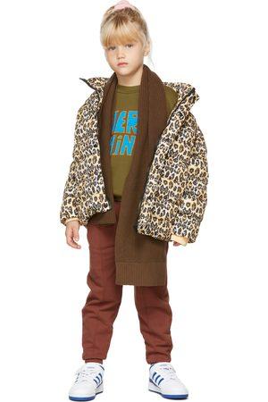 Repose AMS Tracksuits - Kids Brown Jogger Lounge Pants