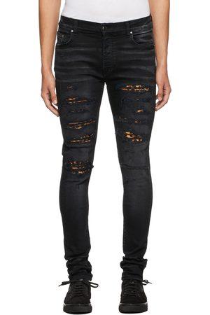 AMIRI Men Jeans - Black Leopard Thrasher Jeans