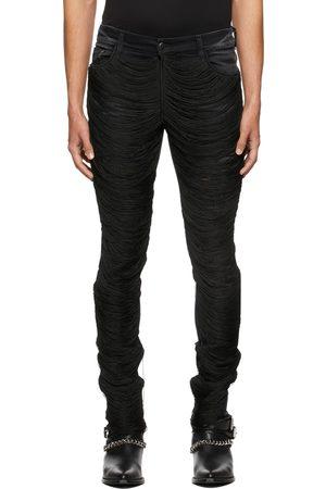 AMIRI Men Jeans - Black Fringe Wire Ripped Jeans