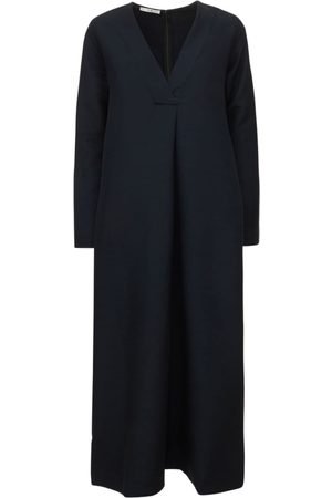 CO Women Casual Dresses - Oversized Knit V Neck Midi Dress