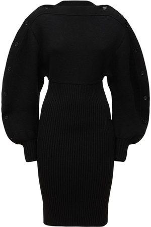 Bottega Veneta Women Party Dresses - Shetland Double Wool Blend Mini Dress