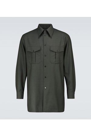 LEMAIRE Officer wool-blend shirt