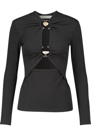 CHRISTOPHER ESBER Cutout ribbed-knit long-sleeved top