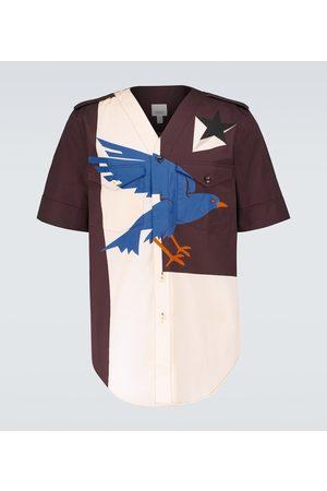 Burberry Printed short-sleeved cotton shirt