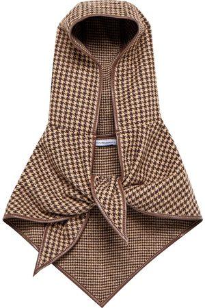 Ruslan Baginskiy Houndstooth cotton-blend hood