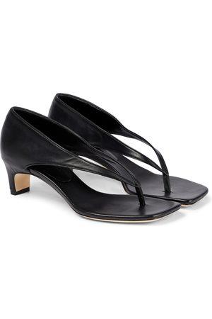 CHRISTOPHER ESBER Leather thong sandals