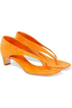 CHRISTOPHER ESBER Suede thong sandals