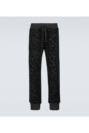 Dolce & Gabbana Leopard-print cotton sweatpants