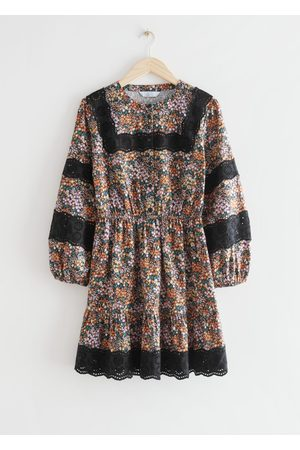 & OTHER STORIES Printed Embroidery Mini Dress