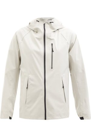 Moncler Meteor Matte-shell Hooded Jacket - Womens - Light Grey