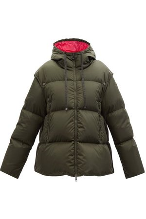 Moncler Asaret Detachable-sleeve Hooded Quilted Down Coat - Womens - Khaki