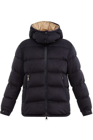 Moncler Holostee Quilted Velvet Down Jacket - Womens - Navy