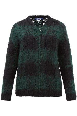 JUNYA WATANABE V-neck Check Wool-blend Cardigan - Mens