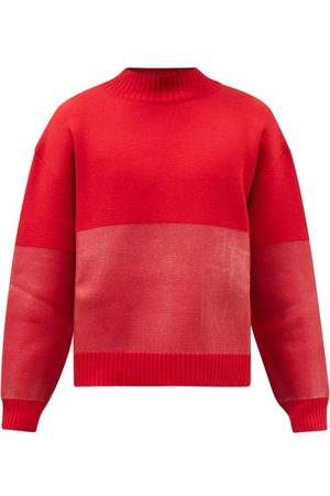 Jacquemus High-neck Two-tone Wool-blend Sweater - Mens