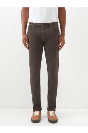 Citizens of Humanity Adler Garment-dyed Denim Tapered-leg Jeans - Mens - Grey