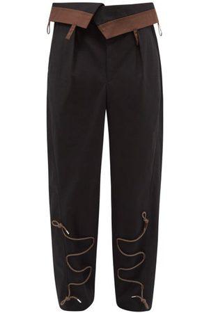 Jacquemus Men Pants - Lace-appliqué Cotton-ripstop Trousers - Mens