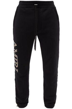 AMIRI Men Sweatpants - Logo-appliqué Cotton-jersey Track Pants - Mens