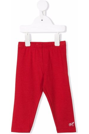 MONNALISA Girls Leggings - Rhinestone-embellished logo leggings