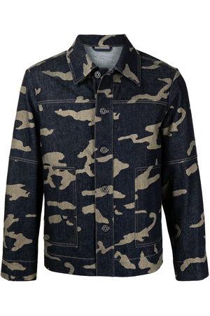 Ports V Denim Jackets - Camouflage-print denim jacket