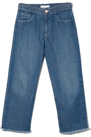 Chloé Frayed hem straight-leg jeans