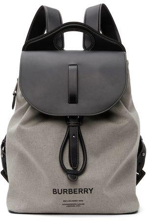 Burberry Grey Horseferry Print Pocket Backpack