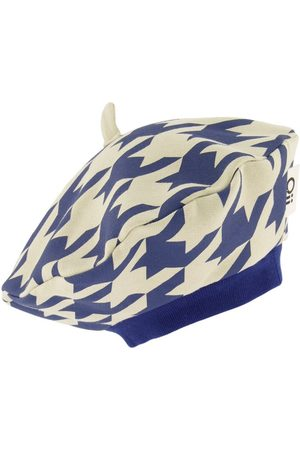 Oii Kids Beanies - Houndstooth Navy Beret - One Size - - Beanies