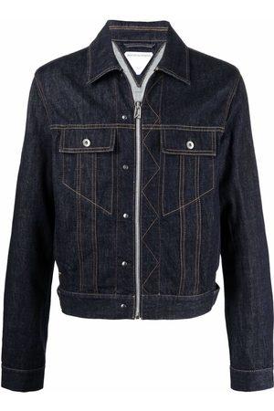 Bottega Veneta Men Denim Jackets - Zip-up denim jacket