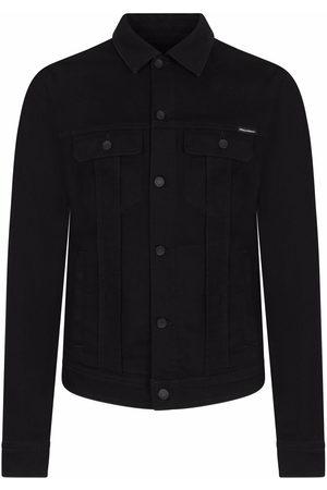 Dolce & Gabbana Men Denim Jackets - Camp collar denim jacket