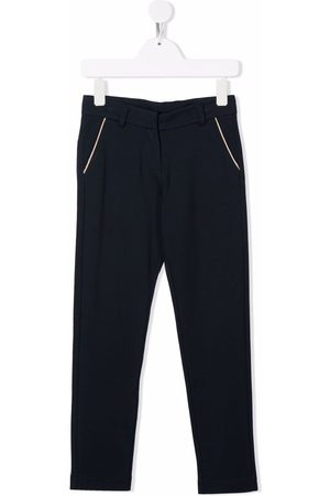 HUGO BOSS Contrast-trimmed slim-fit trousers