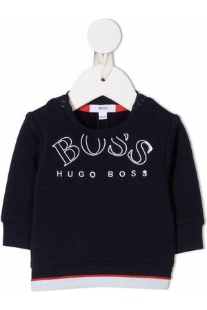 HUGO BOSS Hoodies - Embroidered logo fleece sweatshirt