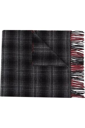 Woolrich Men Scarves - Double wool check scarf - Grey
