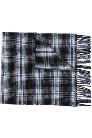 Woolrich Men Scarves - Double wool check scarf
