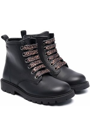 Geox Girls Ankle Boots - Lace-up leather boots