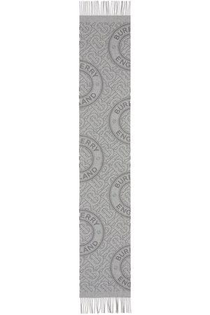 Burberry Scarves - TB-Monogram cashmere scarf - Grey