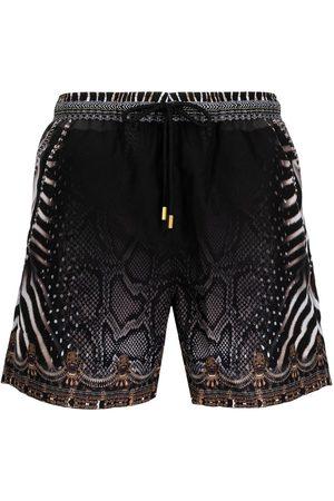 Camilla Men Swim Shorts - Animal-print shorts